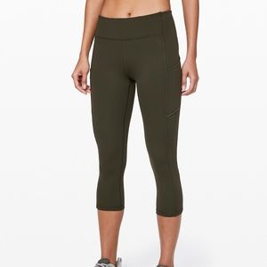 Lululemon Green Speed Up Crop Mesh Crop 12 NEW